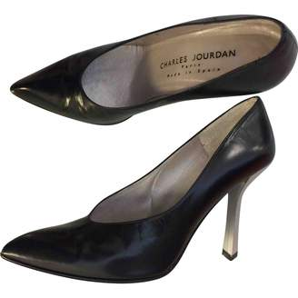 Charles Jourdan Black Leather Heels