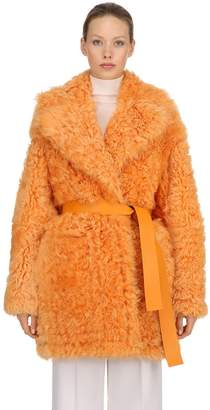 Rochas Reversible Curly Shearling Coat