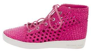 Michael Kors Woven High-Top Sneakers