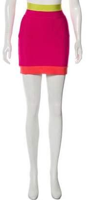 Herve Leger Mini Knit Skirt