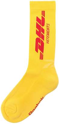 Vetements Dhl Cotton Blend Socks