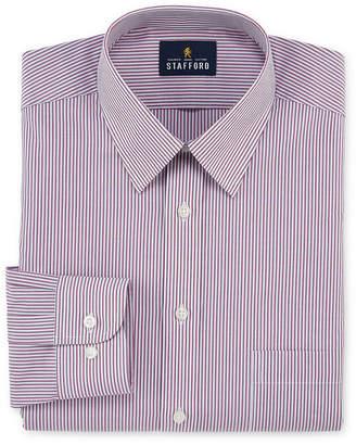 STAFFORD Stafford Travel Performance Super Long-Sleeve Broadcloth Stripe Dress Shirt