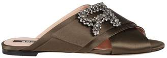 Rochas Crystal Embellished Mules
