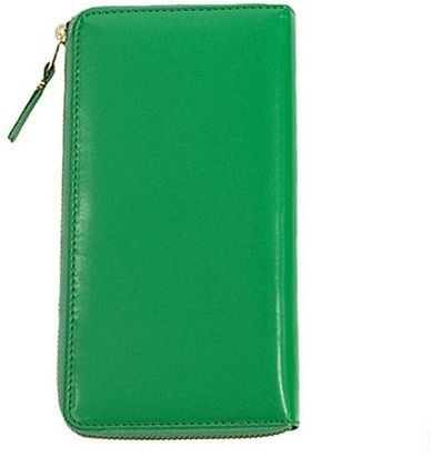 Comme des Garçons Checkbook Wallet Green
