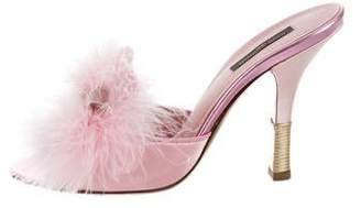 Louis Vuitton Fur Slide Sandals
