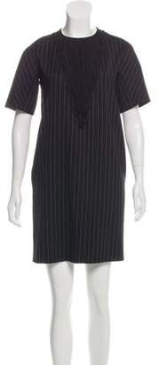 Marco De Vincenzo Striped Wool Dress