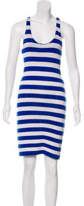 Ralph Lauren Black Label Silk Striped Knit Mini Dress