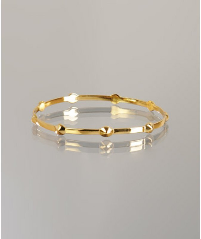 Gorjana gold plated studded 'Karta' bangle