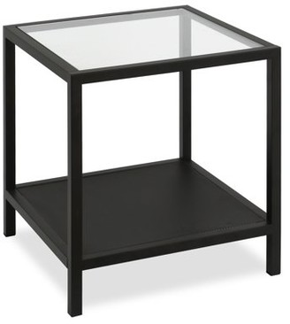 Hudson&Canal Rigan side table in blackened bronze