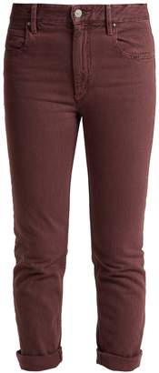 Etoile Isabel Marant Fliff mid-rise slim-fit cropped jeans
