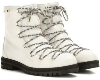 Jimmy Choo Drake Flat shearling-lined leather boots