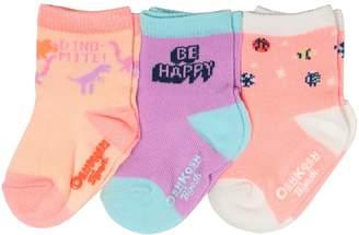 Osh Kosh Oshkosh Bgosh Baby / Toddler Girl 3-pack Glow-in-the-Dark Crew Socks