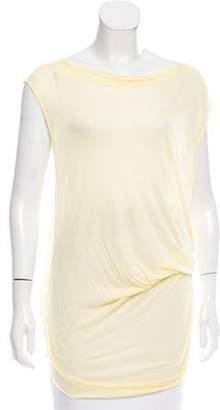 Helmut Lang Sleeveless Asymmetrical Top