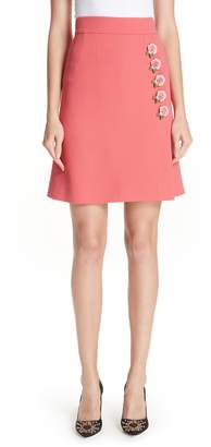 Dolce & Gabbana Rose Button Skirt