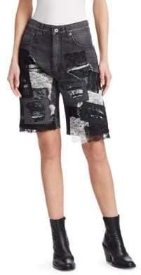Junya Watanabe Lace Trim Denim Bermuda Shorts