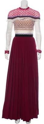 Self-Portrait Long Sleeve Maxi Dress