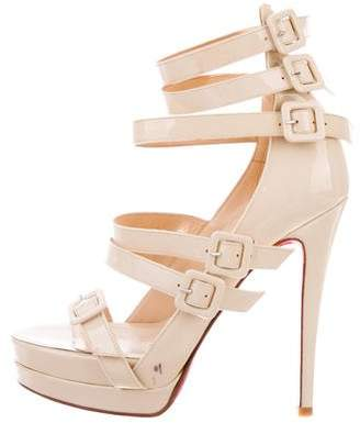 Christian Louboutin Patent Leather Buckle Sandals