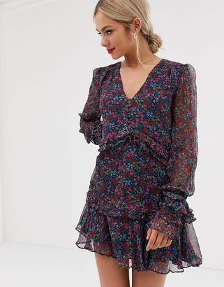 Stevie May mercy long sleeve floral mini dress