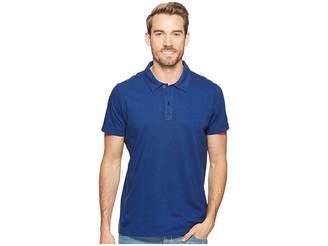 Agave Denim Short Sleeve Polo Italian Pique in Cobalt Men's Clothing
