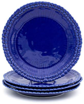 EuroCeramica Sarar 4 Piece Cobalt Dinner Plate Set