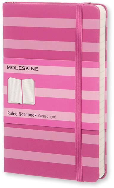 Magenta Stripe Ruled Notebook Hardcover