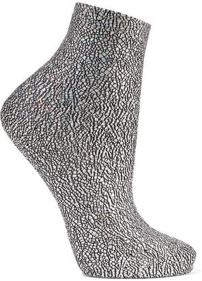 Maria La Rosa Universe Metallic Silk-blend Socks