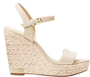 MICHAEL Michael Kors Women's Jill Leather Wedge Sandals