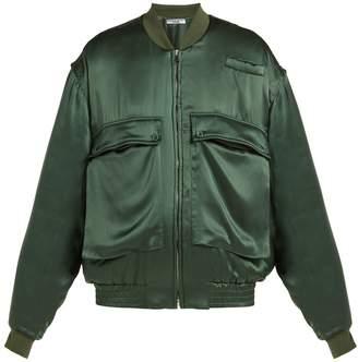 Katharine Hamnett Oversized silk-satin bomber jacket