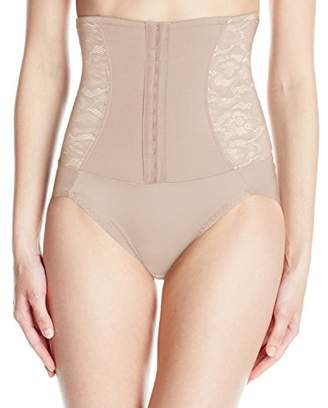 Flexees Women's Firm Foundations Waist Nipping Brief