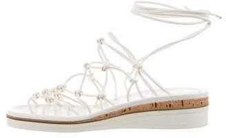 Chloé Platform Lace-Up Sandals