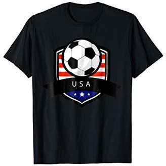 USA Soccer Ball T-Shirt | American Flag Football Tee