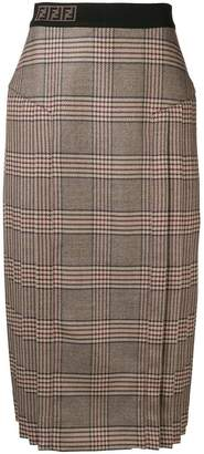 Fendi pleated side long skirt