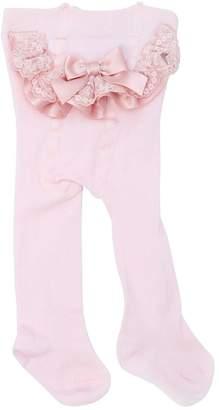 La Perla Cotton Knit Tights W/ Ruffles