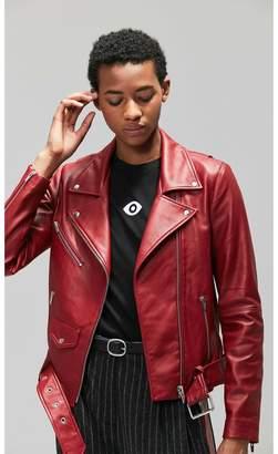Veda Jayne Smooth Jacket Crimson