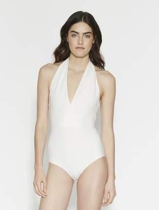 Halston Bianca Fine Rib Knit Bodysuit