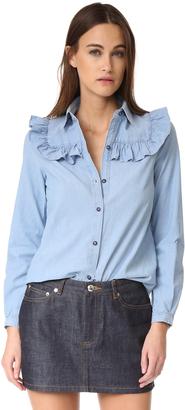 A.P.C. Memphis Shirt $235 thestylecure.com