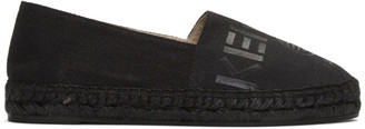 Kenzo Black Canvas Logo Espadrilles $180 thestylecure.com