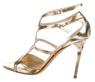 Jimmy Choo Metallic Ankle Strap Sandals