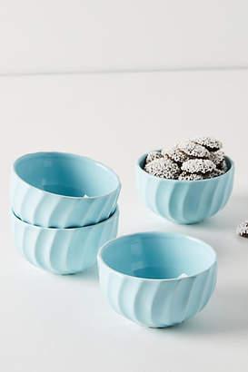 Anthropologie Swirled Mini Latte Bowls, Set of 4