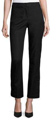 NIC+ZOE The Perfect Front-Zip Ankle Pants, Black Onyx $128 thestylecure.com