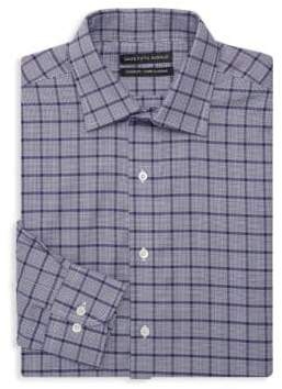 Saks Fifth Avenue BLACK Classic Fit Checker Dress Shirt