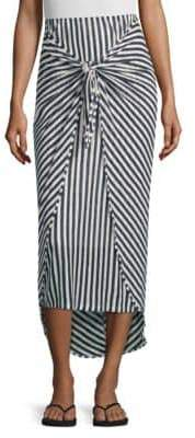 Isola Striped Midi Skirt