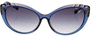 Swarovski Daisy Cat-Eye Sunglasses $145 thestylecure.com