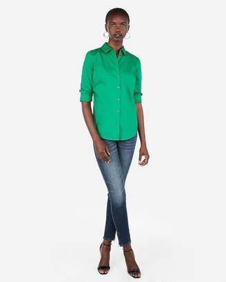 Express Slim Fit Long Sleeve Essential Shirt