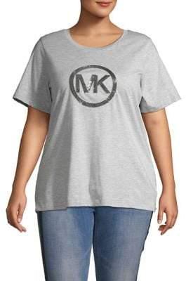 MICHAEL Michael Kors Sequin Circle Logo Tee