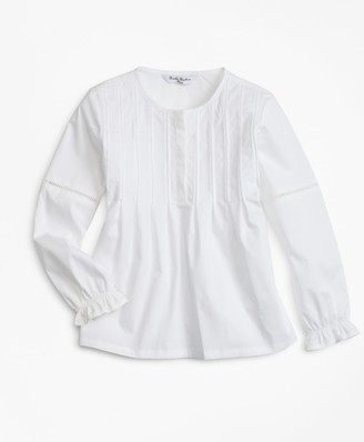 Brooks Brothers Girls Cotton Poplin Blouse