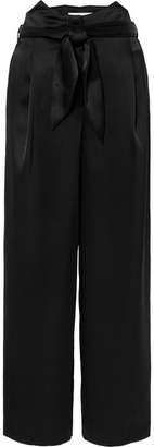 Nanushka - Marie Belted Satin Wide-leg Pants - Black