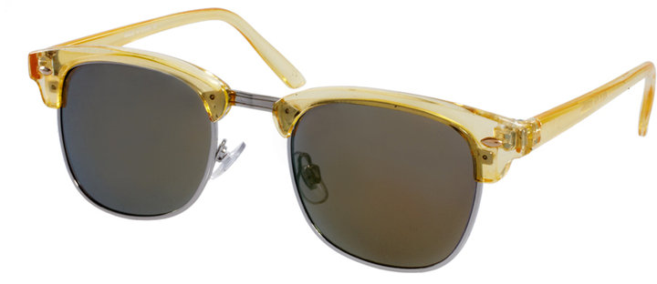 ASOS Orange Crystal Clubmasters Sunglasses With Mirror Lens