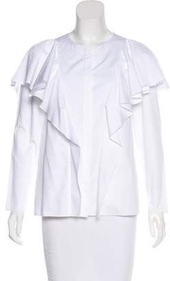 Lanvin Long Sleeve Button-Up Top