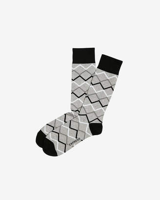 Express Geometric Pattern Dress Socks